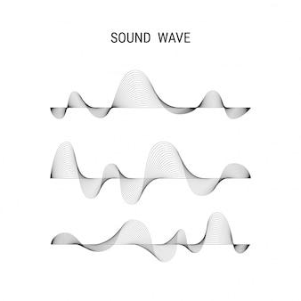 Muzyczny plakatowy wektorowy abstrakcjonistyczny tło z dynamicznymi falami dźwiękowymi