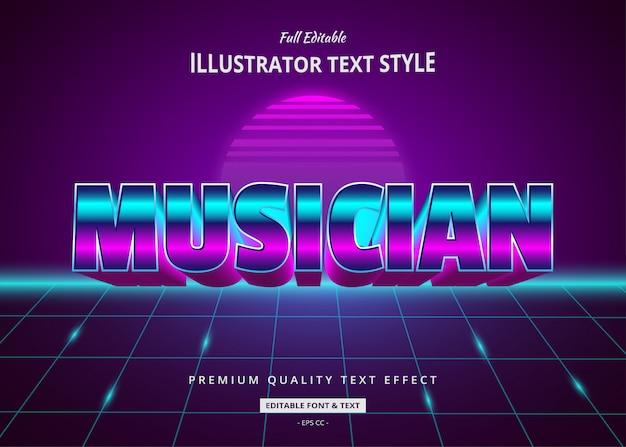 Muzyk efekt tekstowy