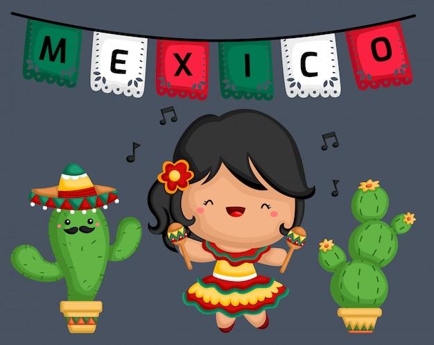 Muzyk meksykańskich marakasów