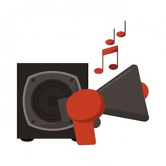 Muzyka bullhorn i głośnik
