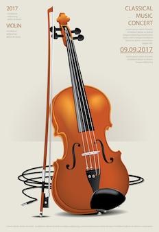 Muzyka klasyczna koncepcja skrzypce ilustracji wektorowych