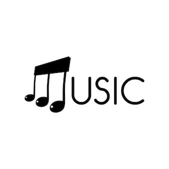 Muzyka kluczowa nutowa orkiestra pieśniowy loga logotypu pojęcie