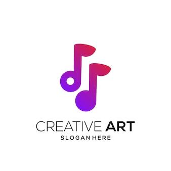 Muzyka logo kolorowy nowoczesny gradient