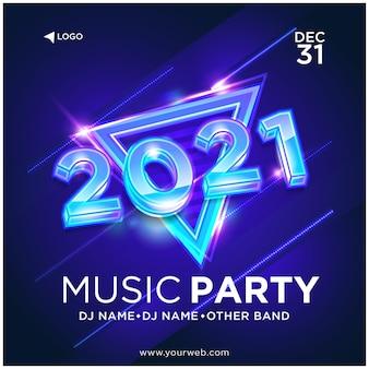 Muzyka party instagram szablon wektor