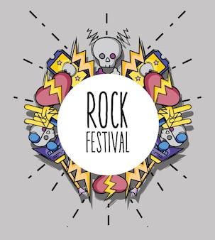 Muzyka rockowa festiwalu wydarzenia koncerta wektoru ilustracja