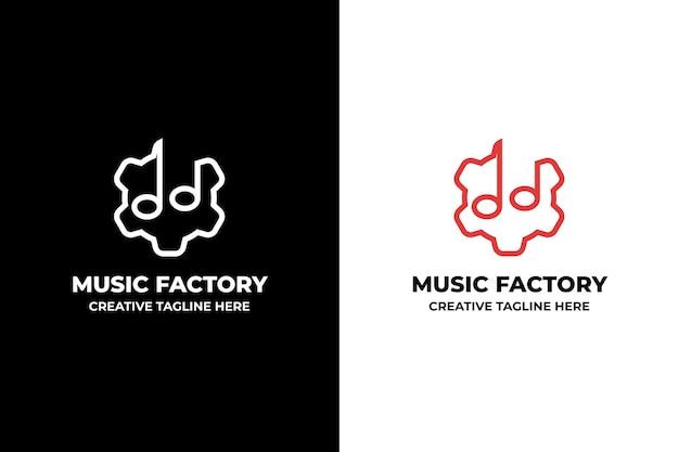 Muzyka uwaga dźwięk minimalistyczne logo