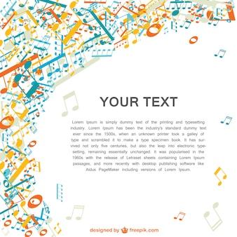 Muzyka wektor wzór notatki kolorowe muzyki