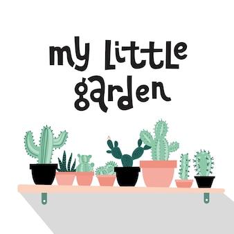 My Little Garden Botaniczny Premium Wektorów