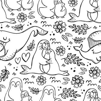 My lovely mum zwierzęta morskie na dzień matki przytula i całuje swoje dzieci