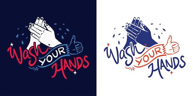 myj ręce z napisem