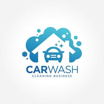 Myjnia samochodowa business symbol design