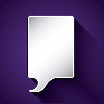 Myśleć o projekcie balonu tekstowego