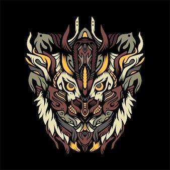 Myśliwy tygrys z ilustracji zbroi