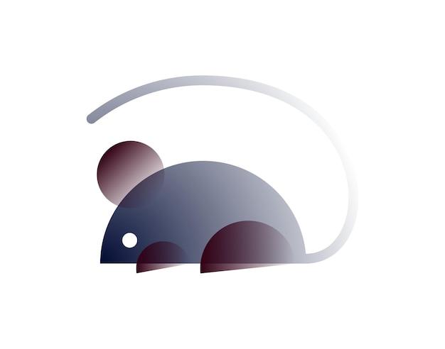 Mysz wektorowa w stylu gradientu. sztuka cyfrowa
