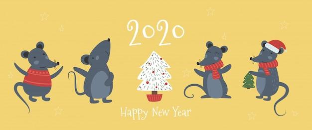 Myszka świąteczna, szalik z czapką serową prezent serce kokarda
