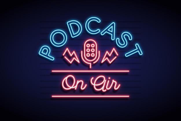 Na antenie podcast ramki neonowej