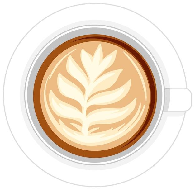 Na białym tle filiżankę kawy logo na białym tle