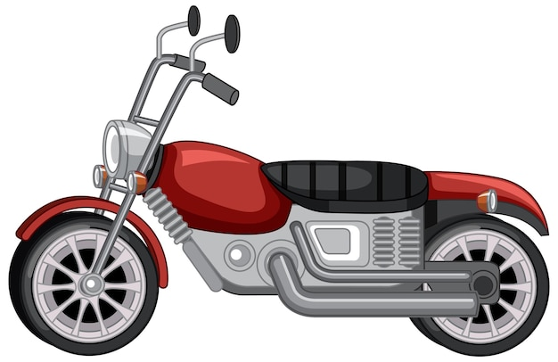 Na białym tle klasyczny motocykl vintage