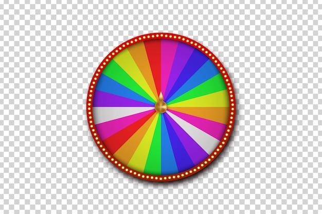 Na białym tle realistyczne koło ruletki fortuny