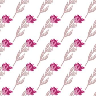 Na białym tle ręcznie rysowane wzór z jasnym różowym ornamentem kwiatowym