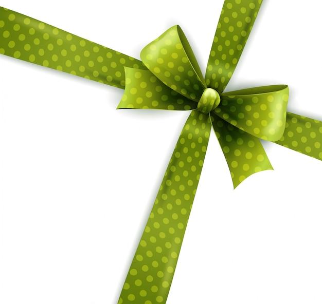 Na białym tle zielony łuk kropki