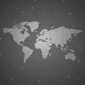 Na całym świecie połączenia tła ilustracji szary wektor