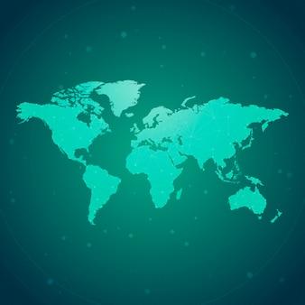 Na całym świecie związku zieleni tła ilustraci wektor