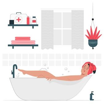 Na ilustracji koncepcji łazienki