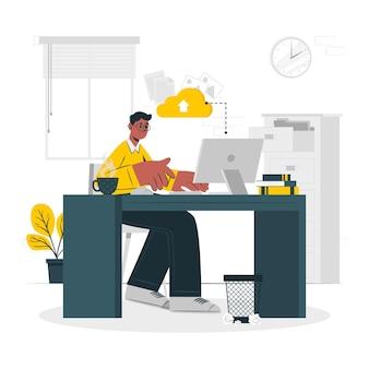 Na ilustracji koncepcji pracy