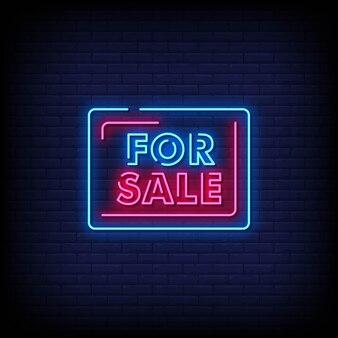 Na sprzedaż neon signs style text