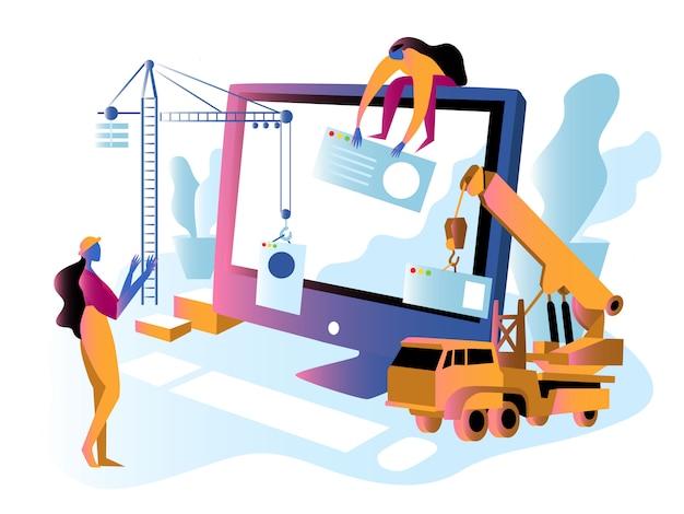 Na stronie internetowej budowy lub konserwacji