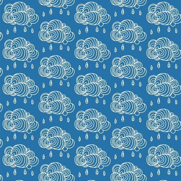 Na tle nieba z ręcznie rysowane chmury