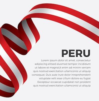 Na wstążkę flagi ilustracji wektorowych na białym tle premium wektorów