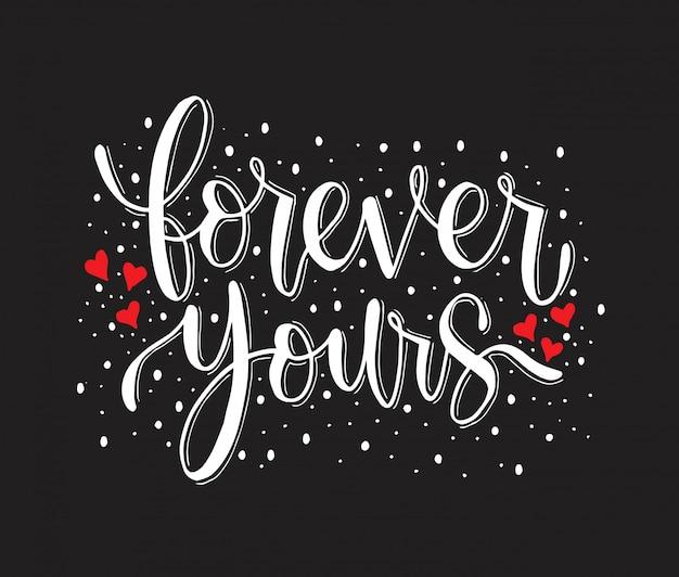 Na zawsze twoje - ręcznie drukowane cytaty