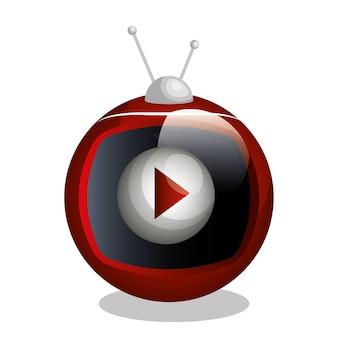 Na żywo straming koncepcja na białym tle ikona wektor ilustracja projektu