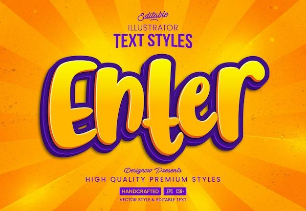 Naciśnij enter styl tekstu gry