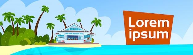 Nad morzem letnie wakacje willa transparent