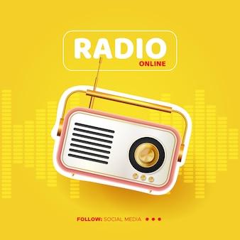Nadawanie szablonu mediów społecznościowych z muzyką online