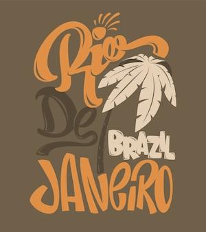 Nadruk koszulowy z ilustracją rio de janeiro