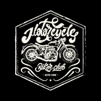 Nadruk motocykla, znaczek motocyklowy