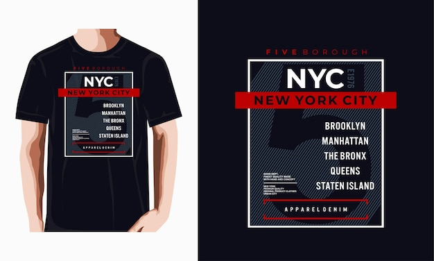 Nadruk nyc do projektowania koszulek