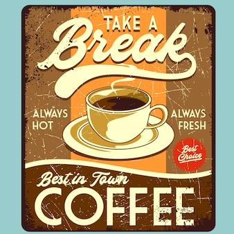 Nadruk plakatu przerwy kawowej