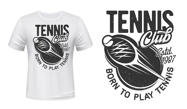 Nadruk tenisowy, znaczek gry klub sportowy