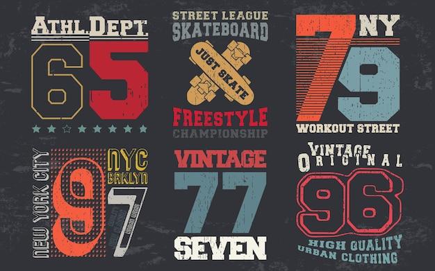 Nadruk w stylu vintage na znaczek na koszulkę, aplikację na koszulkę, typografię mody, odznakę, etykietę odzieży, dżinsy i odzież codzienną. ilustracja wektorowa.