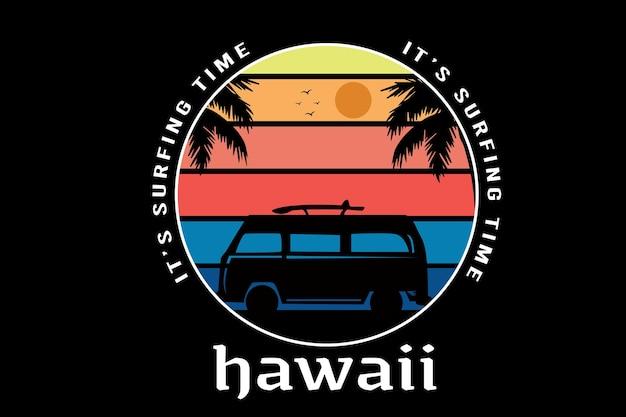 Nadszedł czas surfowania na hawajach w kolorze żółtym, pomarańczowym i niebieskim!