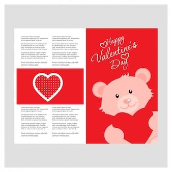 Nadziewane niedźwiedź valentine card