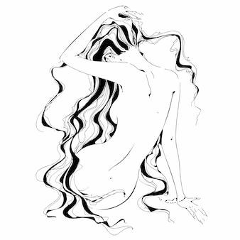 Naga dziewczyna