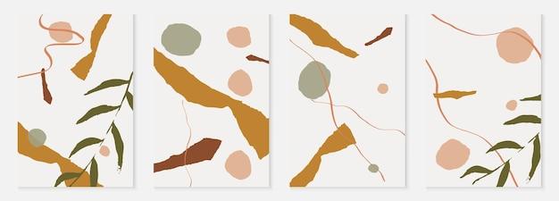 Nagie kształty ustawić tło wektor memphis. pastelowy kobiecy organiczny design. ciągłe zaproszenie do rysowania w kolorze brązowym i szarym.