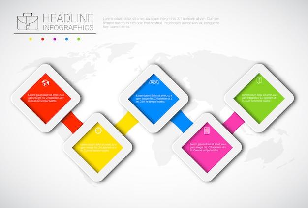 Nagłówek infografika projekt dane biznesowe kolekcja graficzna prezentacja kopia przestrzeń