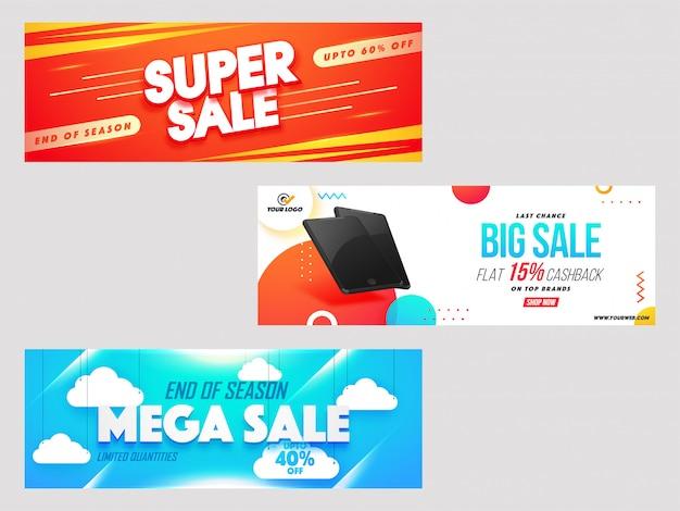 Nagłówek koncepcji mega-sprzedaży